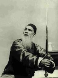 Wang Zi Ping z mieczem