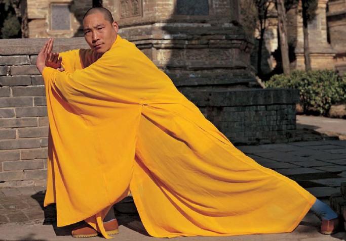 """Zdjęcie z okładki angielskiego wydania """"The Shaolin Monastery"""""""